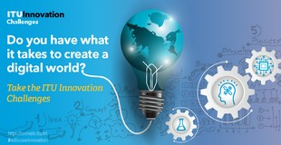 Banner of Innovation Challenges. Do you have what it takes to create a digital world?