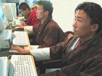 ICT Training in a multipurpose community telecentre established by ITU in rural Bhutan. Source: ITU
