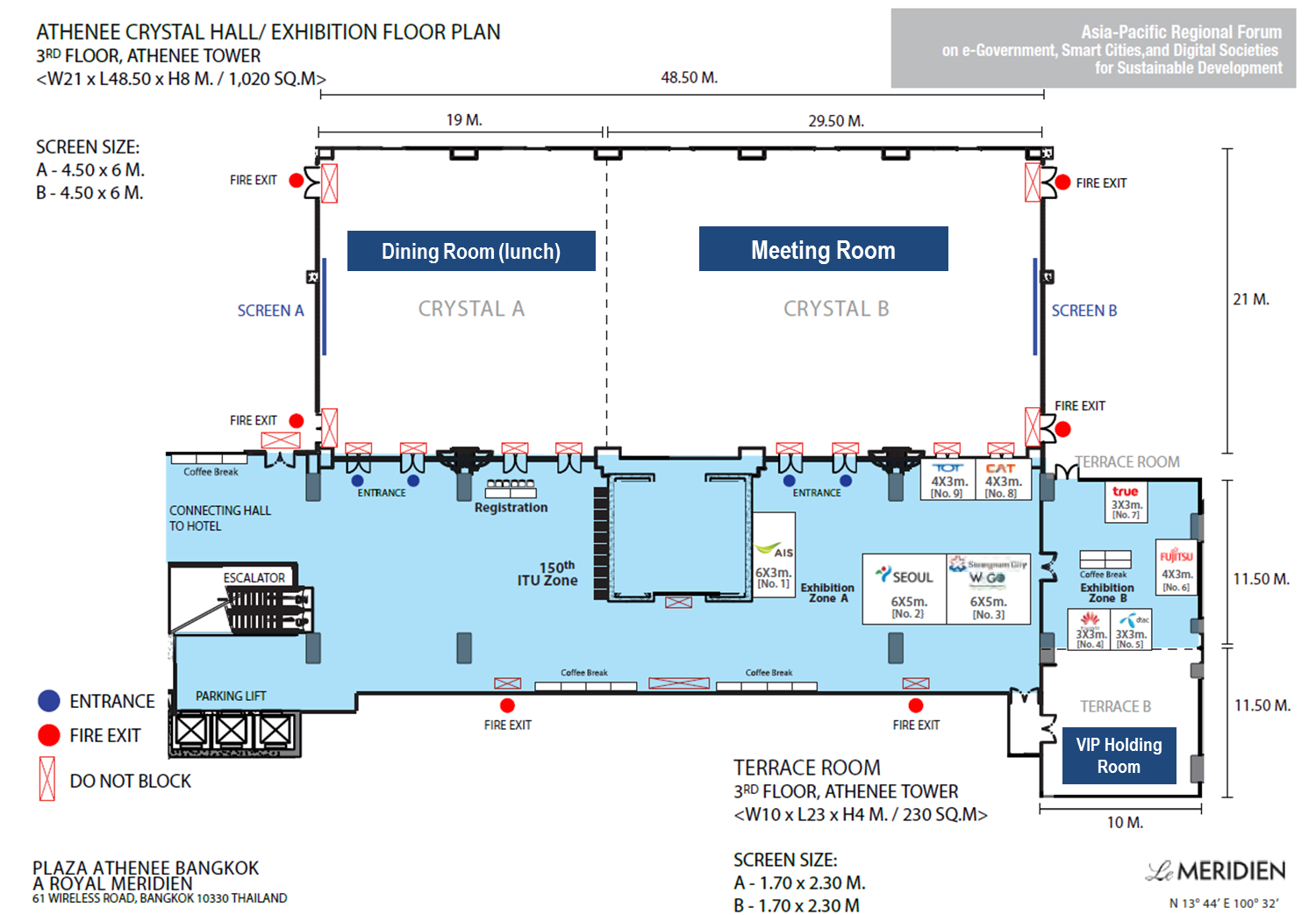 Exhibition Floor Plan D : Useful information for participants