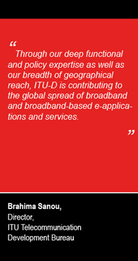Quote from Brahima Sanou, Director ITU-D