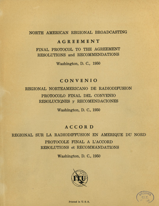 North American Regional Broadcasting Conference (2nd Session) (Washington, D.C., 1950)