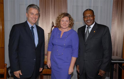 Dr Hamadoun I. Touré, ITU Secretary-General with H.E. Cezary Grabarczyk, Poland's Minister of Infrastructure and Ms. Magdalena G