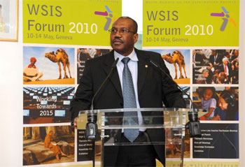 Dr Hamadoun Touré, ITU Secretary-General speaks at the WSIS Forum 2010