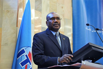 Photo: Dr Hamadoun Touré, ITU Secretary-General, speaks at the openning ceremony of ITU Council 2010