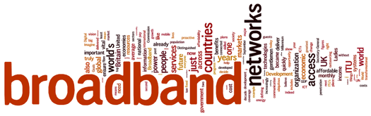 Cloud of words: broadband, countries, itu, networks, people, services, access,...