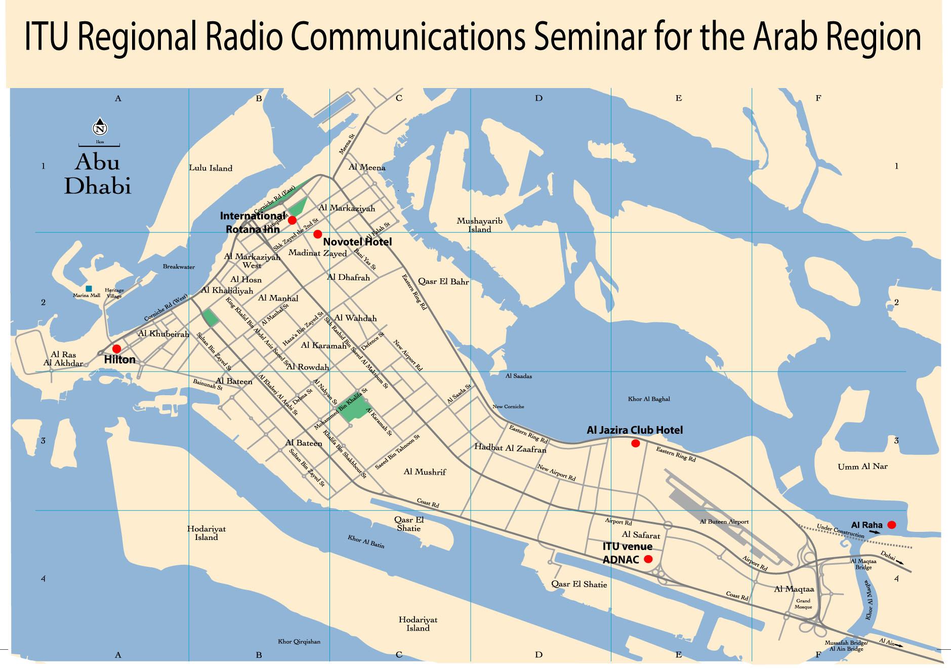 Radiocommunication Sector ITUR United Arab Emirates Abu – Abu Dhabi Location Map
