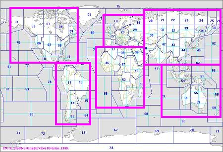 CIRAF zones maps