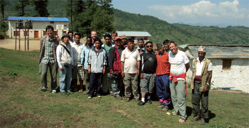 The ITU mission team with staff of Himanchal Higher