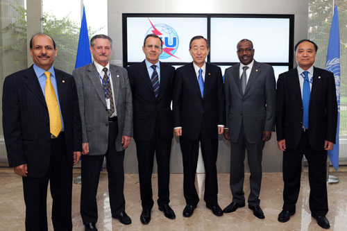 United Nations Secretary-General Ban Ki-moon visits ITU