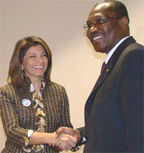 Laura Chinchilla and Dr Hamadoun I. Touré