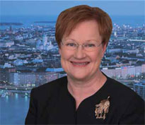 Tarja Halonen. photo credit  Shutterstock. Tarja Halonen President of the  Republic of Finland 06a86915fb