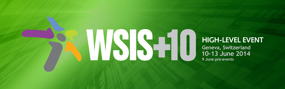 WSIS+10 High Level Event Banner