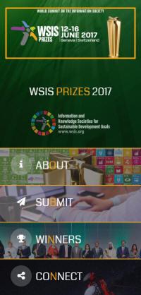 WSIS Prizes 2017 Website
