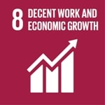 Goal 8: Promote inclusive and sustainable economic growth, employment and decent work for all logo