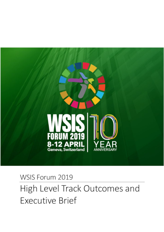 WSIS Forum 2019 High-Level Track Outcomes and Executive Brief cover