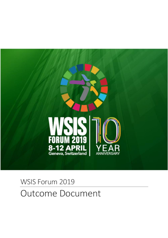 WSIS Forum 2019 and SDG Matrix cover