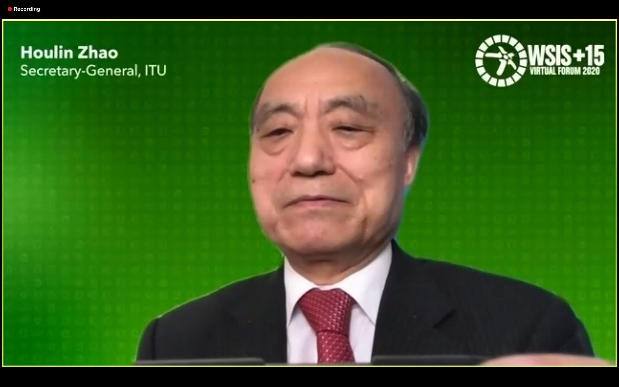 Mr. Houlin Zhao, Secretary-General, ITU at the WSIS Forum 2020 High-Level Opening Ceremony